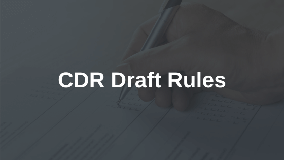 CDR Draft Rules Consultation