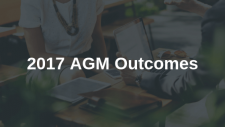 Annual General Meeting (AGM) 2017 - Outcomes